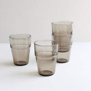 melkglas van rookglas 4x