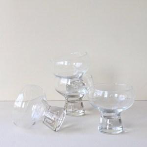 vintage dessert glas jaren 70