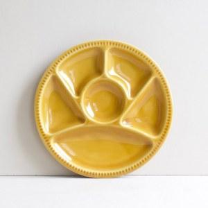 Vintage fonduebord geel