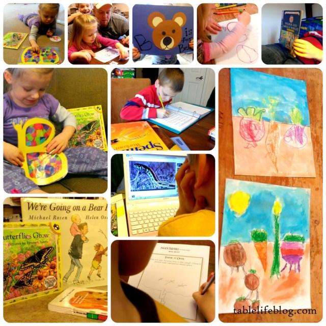 rundown week in review letter of the week b butterfly homeschool collage preschool