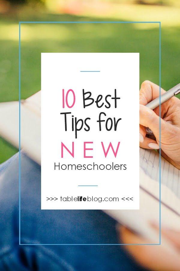 10 Best Tips for New Homeschoolers