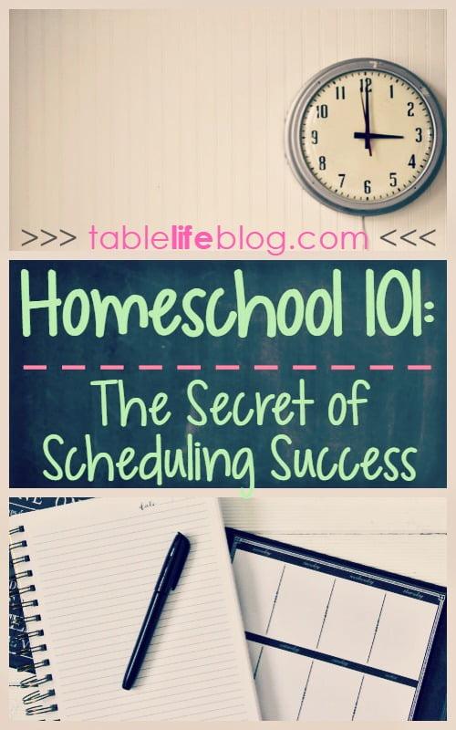 Homeschool 101: Successful Homeschool Scheduling
