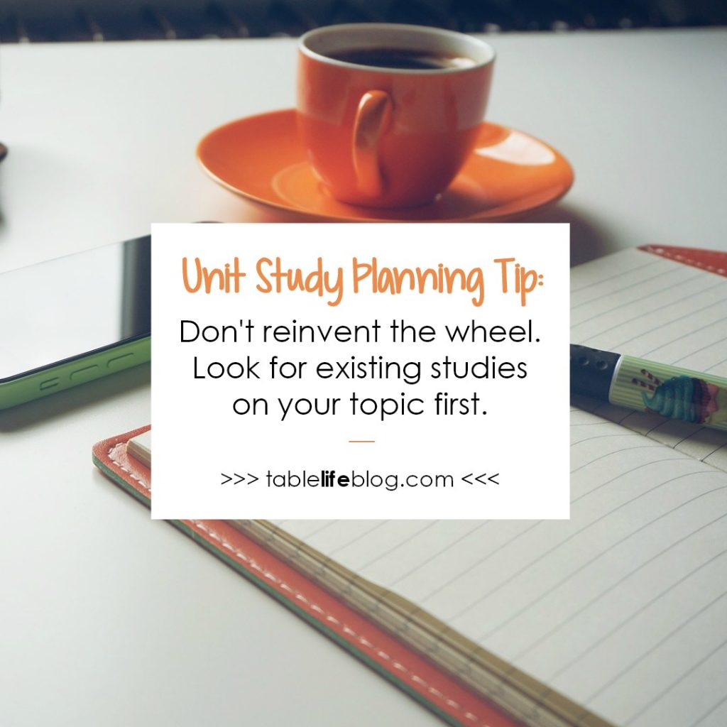 Unit Study Planning Tips Free Planning Worksheet