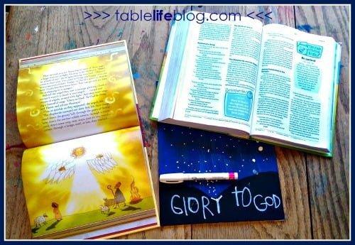 Glory to God Christmas Art for Kids