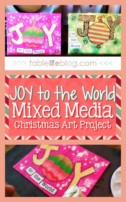 Joy to the World Mixed Media Art Project