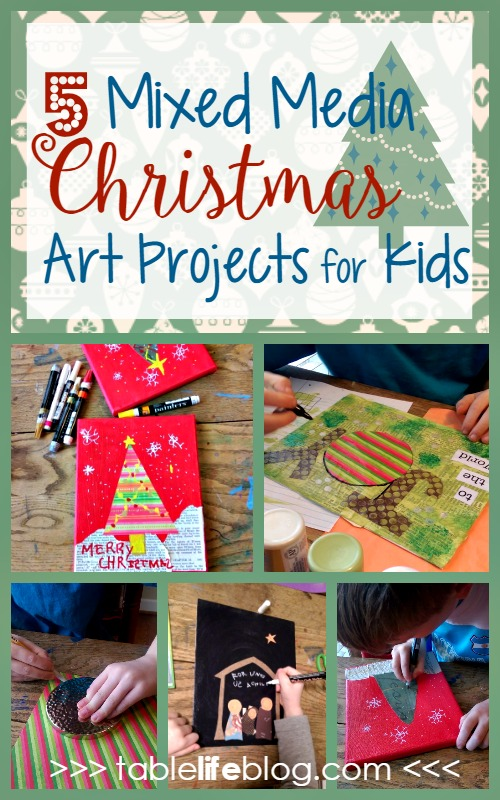 5 Days of Mixed Media Christmas Art for Kids