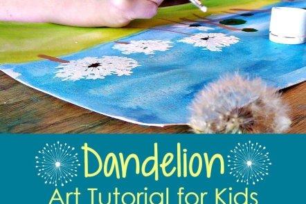 Dandelion Art Tutorial for Kids