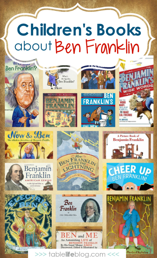 15 Ben Franklin Books ~ Reading suggestions for learning about Benjamin Franklin with your kids.