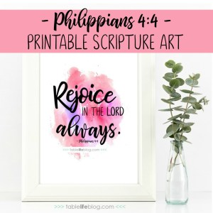 Philippians 4:4 Printable Scripture Art