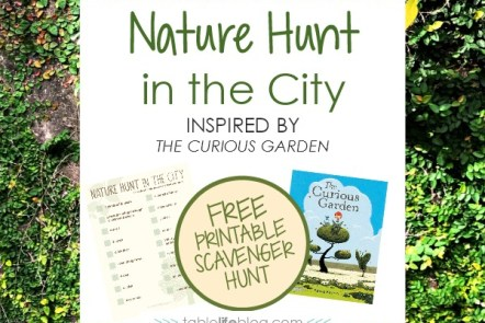 Nature Hunt in the City Inspired by The Curious Garden (with Free Printable Scavenger Hunt!)