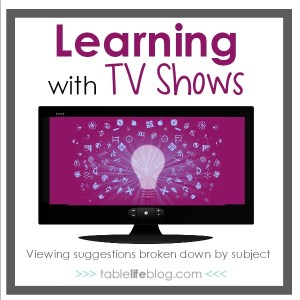 Learning with TV Shows: Viewing suggestions broken down by subject