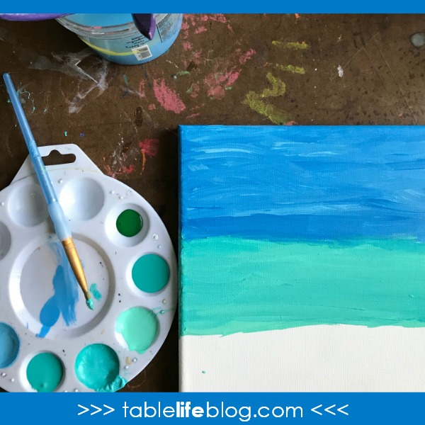 cute and easy ocean art for kids tablelifeblog