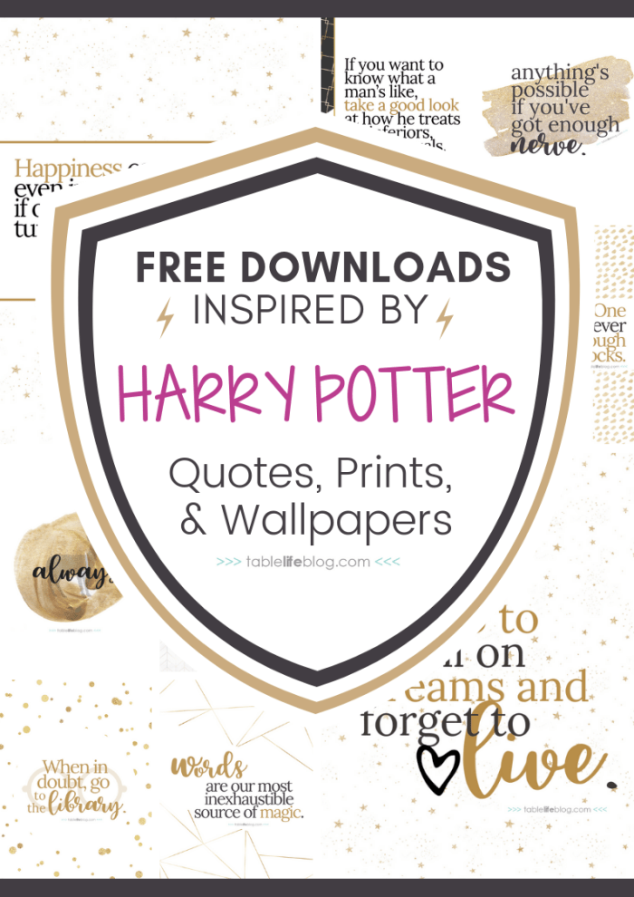 10 Marvelously Magical Harry Potter Quotes Free Printable Decor