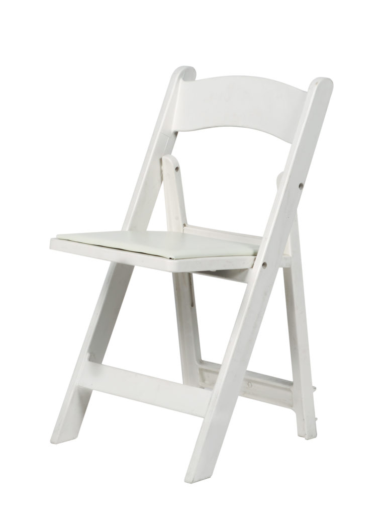 White Resin Folding Chair  Table Manners