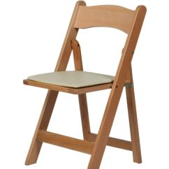 Cream Padded Folding Chairs Ergonomic Chair Usa Natural Wood - Table Manners