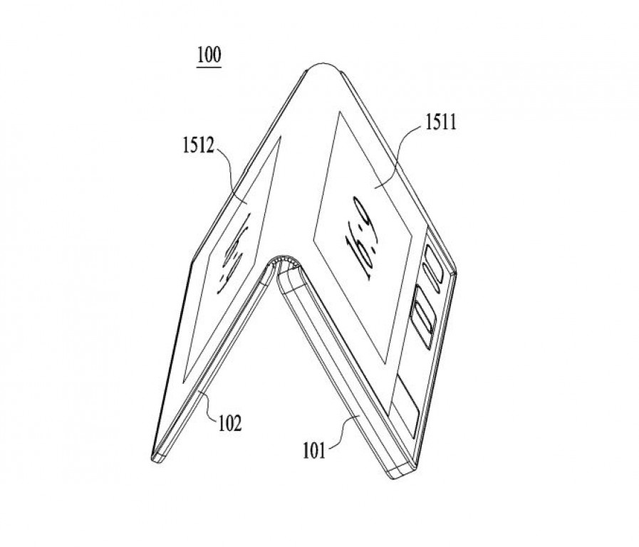 LG Patents Foldable Phone/Tablet, Able to Bend Vertically