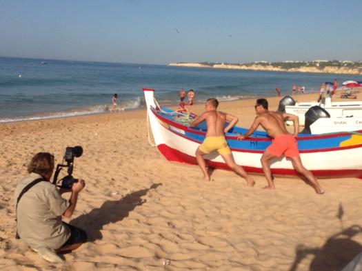 Shooting am Strand