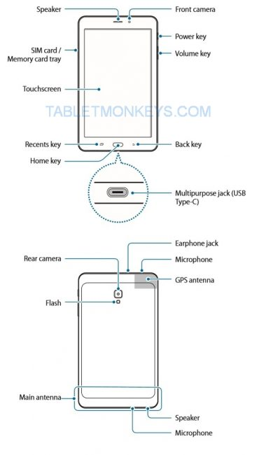 Samsung Galaxy Tab A 8.0 (2017) (SM-T380 / SM-T385) Tablet