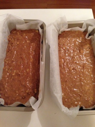 Gluten free on the left and gluten full on the right