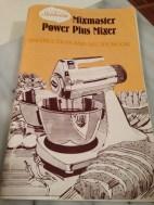 The old school SunBeam Mixmaster Cookbook