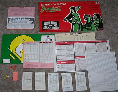 Exploded view of Strat-o-matic game