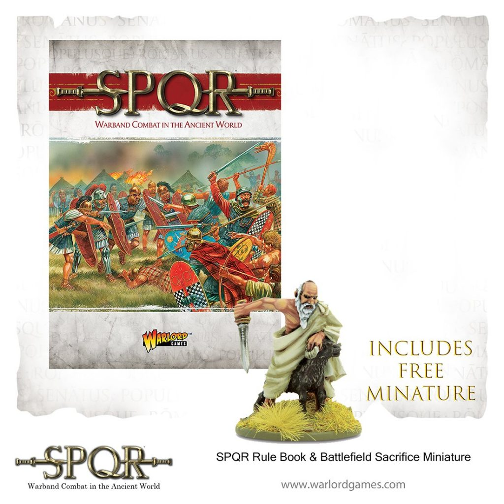 SPQR Rule Book and Battlefield Sacrifice Miniature from Warlord Games