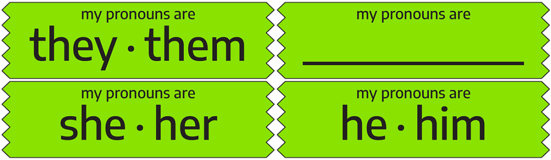 Pronoun Ribbons