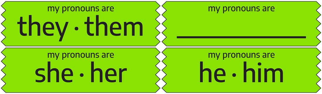Pronoun Ribbons