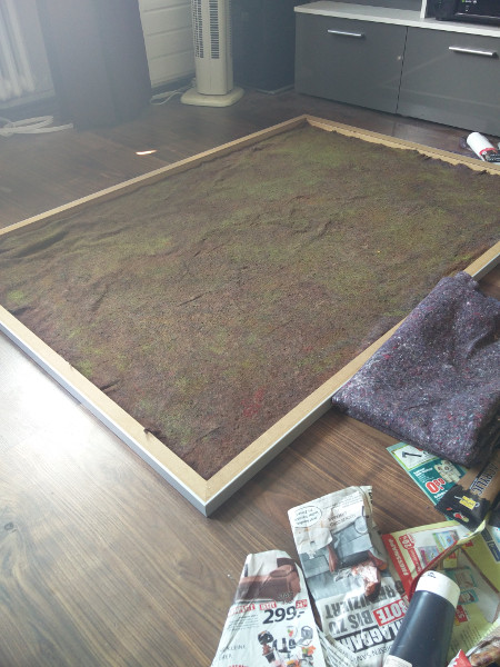 Sehr Spielplatte/Matte aus Leinwand und Malervlies – Tabletop Irrsinn KU52