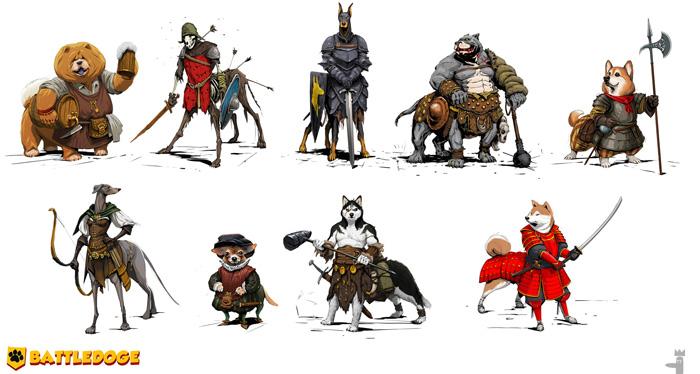Fantasy Battle Dogs Art