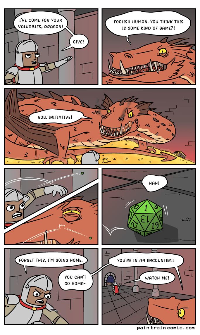 Roll Initiative - Comic