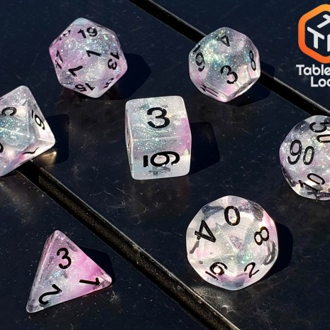 Tabletop Loot _ Luminous Chrome 2-dice-set-dice-dnd-dice-dd-dice-tabletop-dice-dungeons-and-dragons