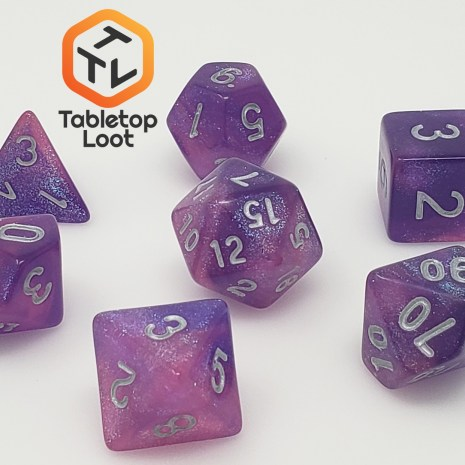 Tabletop Loot _ Royal Aurora 6 -dice-set-dice-dnd-dice-dd-dice-tabletop-dice-dungeons-and-dragons