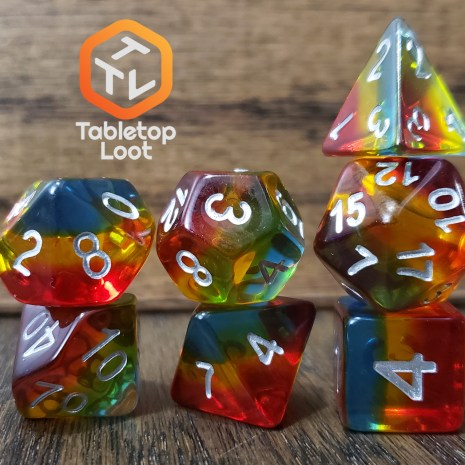 Tabletop Loot _ Sunset Dusk 2-dice-set-dice-dnd-dice-dd-dice-tabletop-dice-dungeons-and-dragons