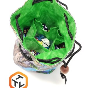 Deven Rue Map Cloth Dice Bag