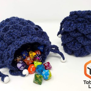 Handmade Yarn Dice Bag