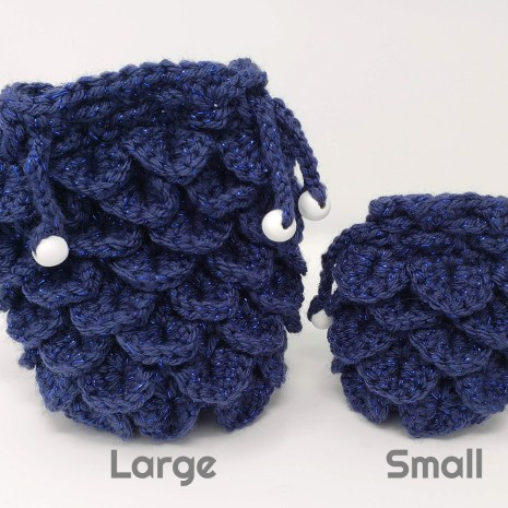 Tabletop Loot _ Crocheted Dragonscale Dice Bag-dice-bag -dice-dnd-dice-dd-dice-tabletop-dice-dungeons-and-dragons