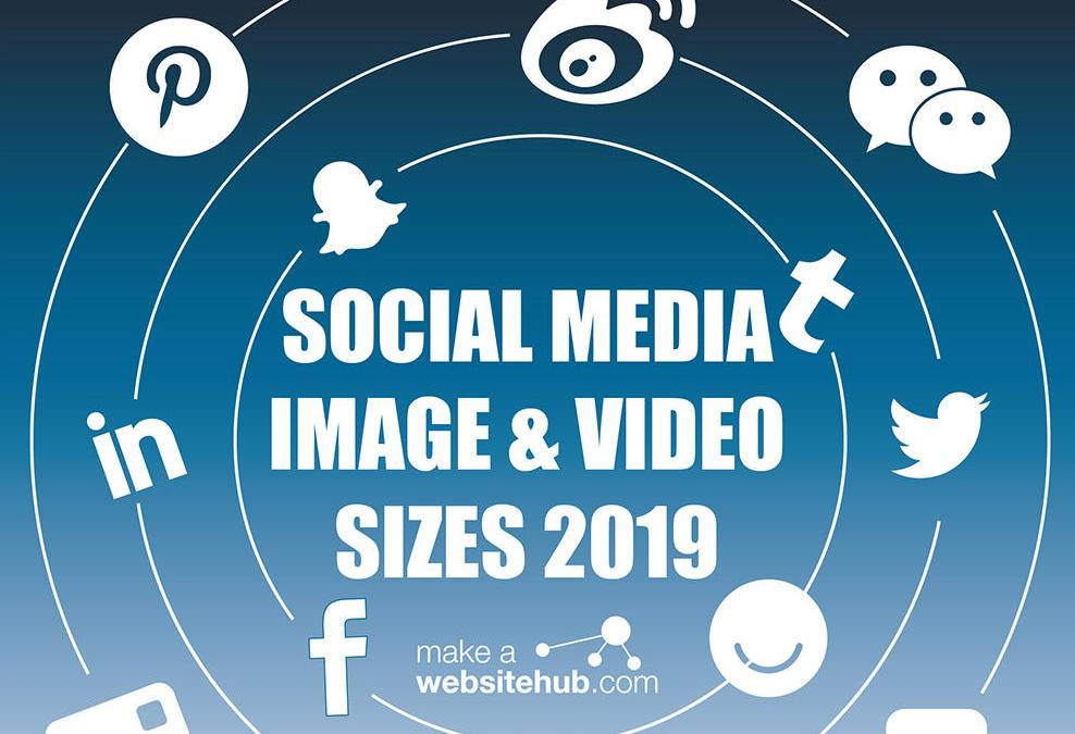 Social Media Images sizes cheatsheet 2019