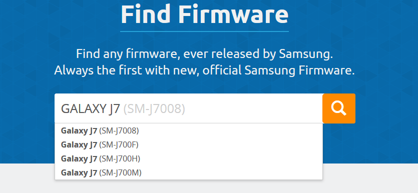 SamMobile Find Firmare