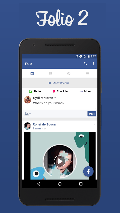 Folio 2 for Facebook & Messenger Premium v2.0.19