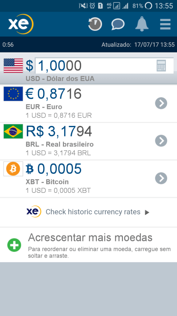XE Currency Pro app