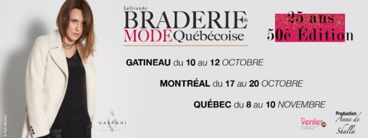 La Grande Braderie de Mode Québécoise à Montréal @ Marché Bonsecours