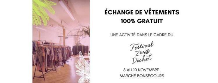 Prêt-à-échanger, un Pop-Up @ Festival Zéro Déchet | Montréal | QC | CA