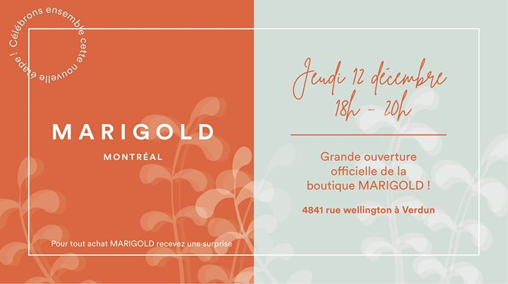 Lancement officiel de la boutique Marigold