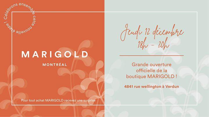Lancement officiel de la boutique Marigold