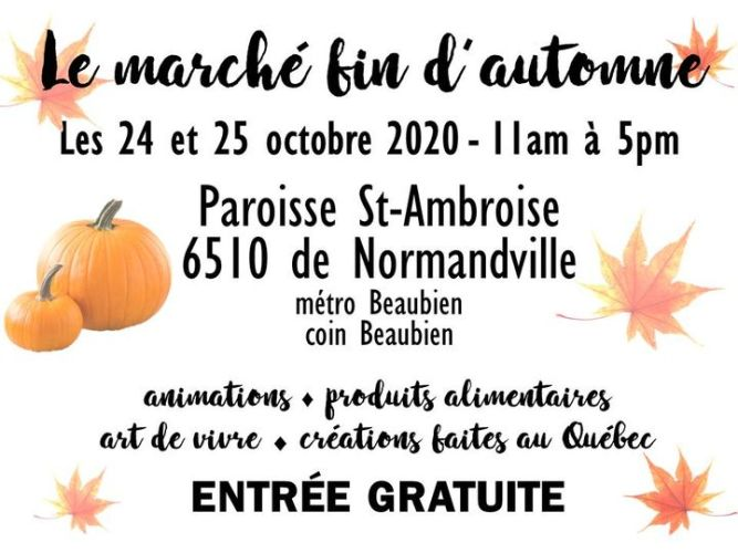 Marché fin d'automne 2020 @ Marché artisanal Montréal | Montreal | QC | Canada
