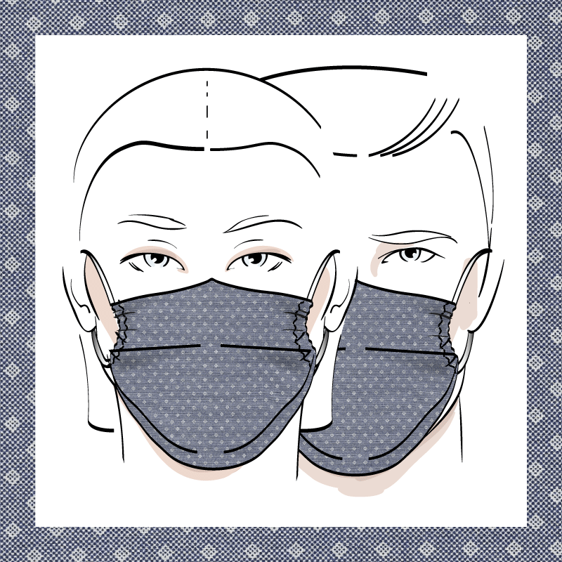 Couvre-visage 3 épaisseurs | Le 333