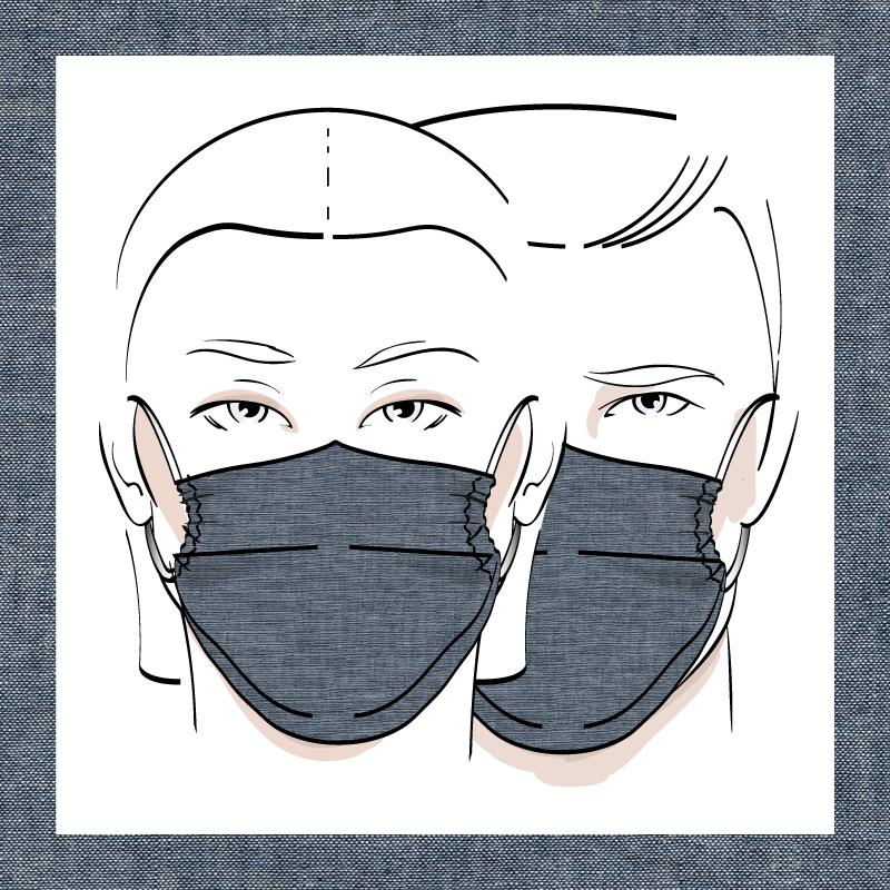 Couvre-visage 3 épaisseurs | Le 342