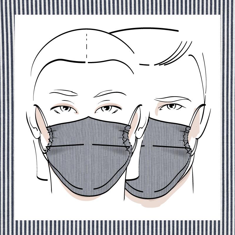 Couvre-visage 3 épaisseurs | Le 358