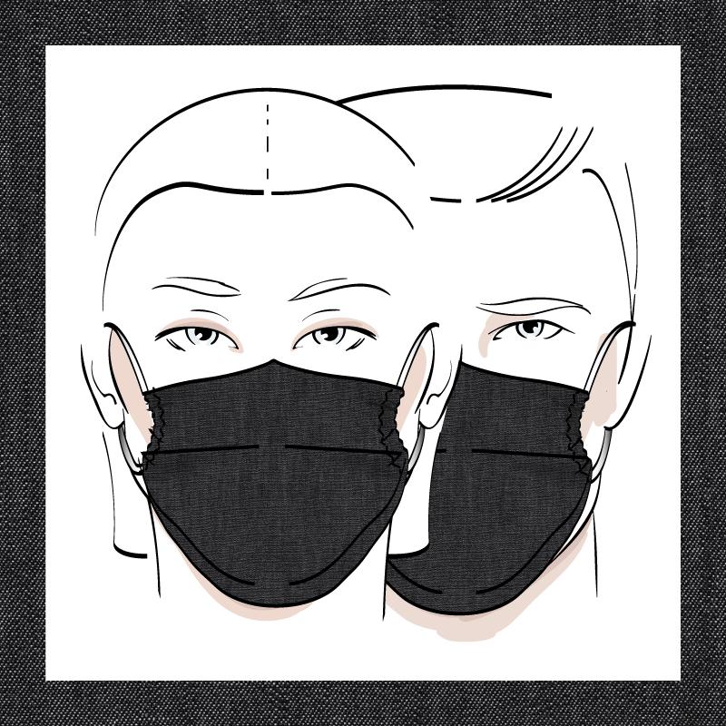 Couvre-visage 3 épaisseurs | Le 370